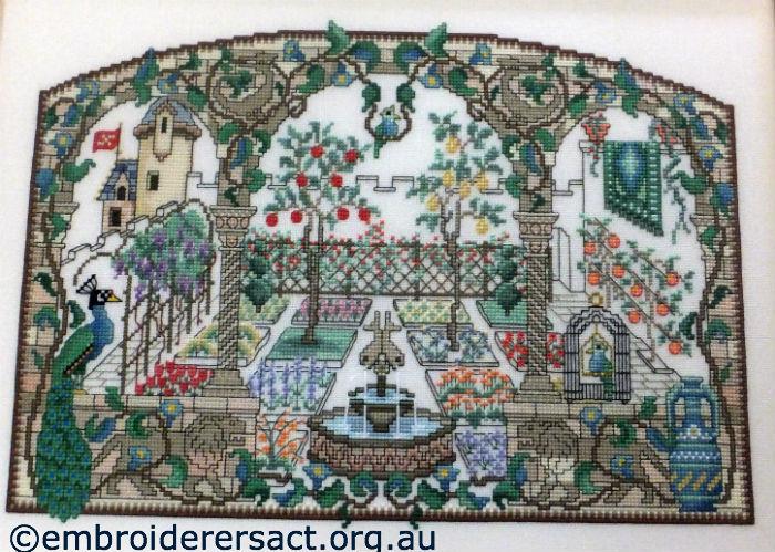 A Medieval Garden x-stitch