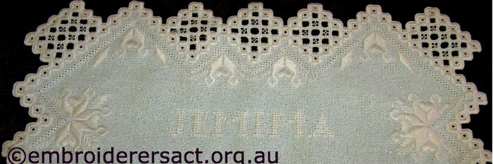 Jemima Hardanger Runner stitched by Anne Dowling
