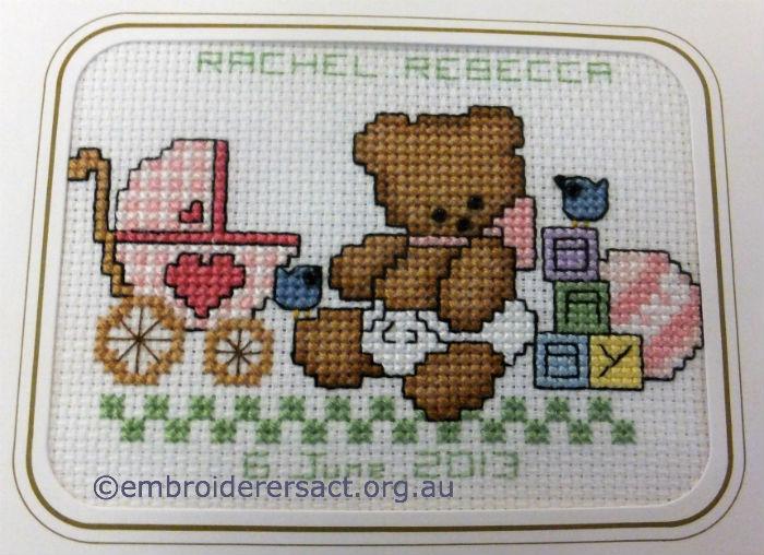 Baby Teddy X-stitch