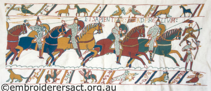 Bayeux Tapestry embroidery