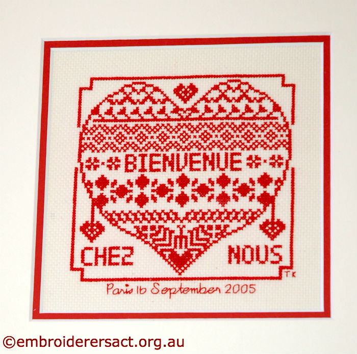 Bienvenue Cross Stitch