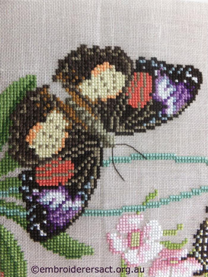 X-stitch butterfly