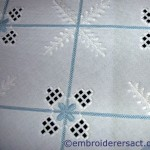 Blue & white Hardanger tablecloth