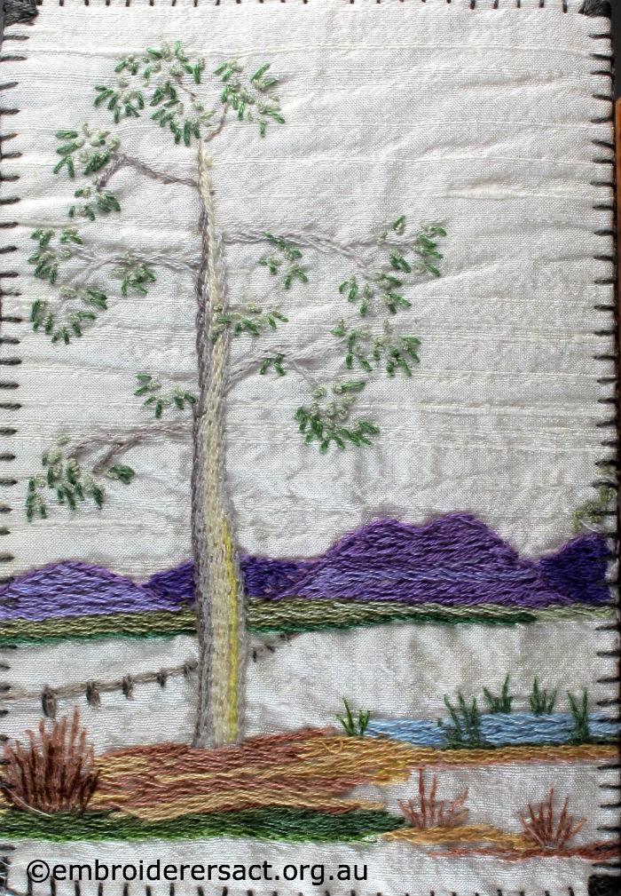 Brindabella Range stitched postcard