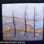 Bushfire Contemporary embroidery