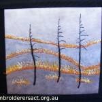 Bushfire Contemporary embroidery