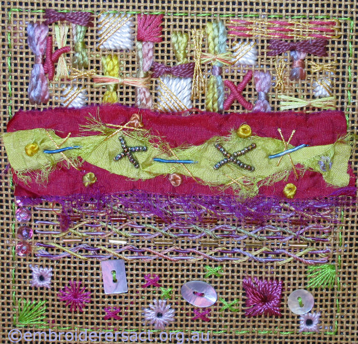 Canvas work sampler