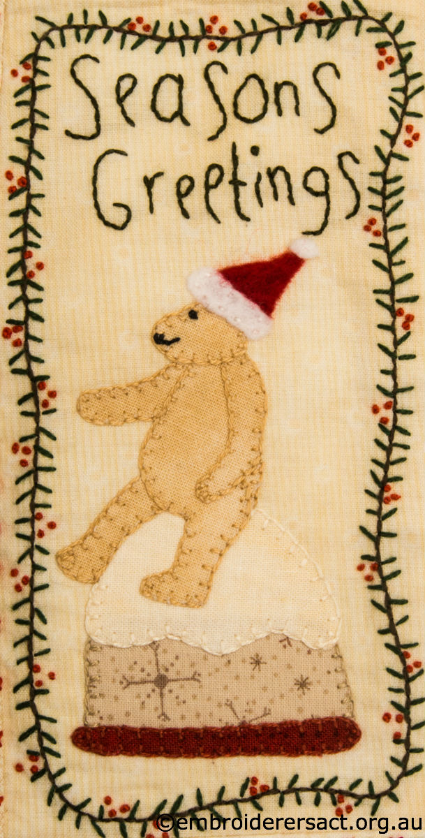Christmas Bear stitchery