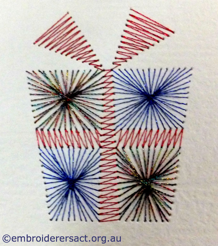 Stitched Xmas Card