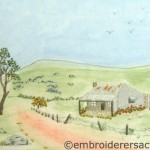 Stitched Country Scene