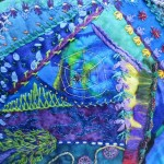 Crazy quilting detail of bag