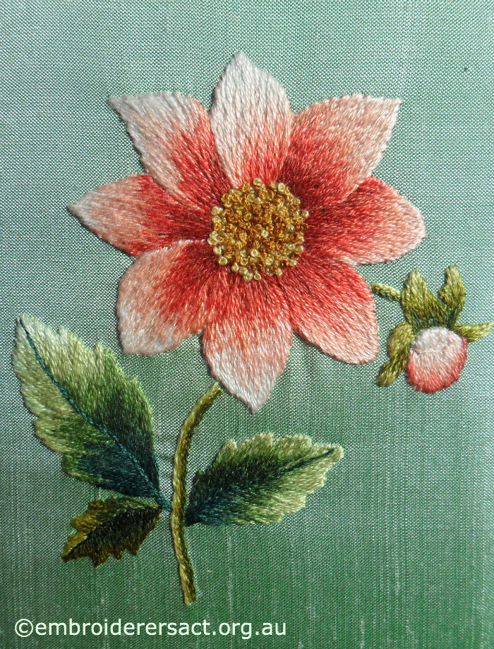 Dahlia Thread Painting