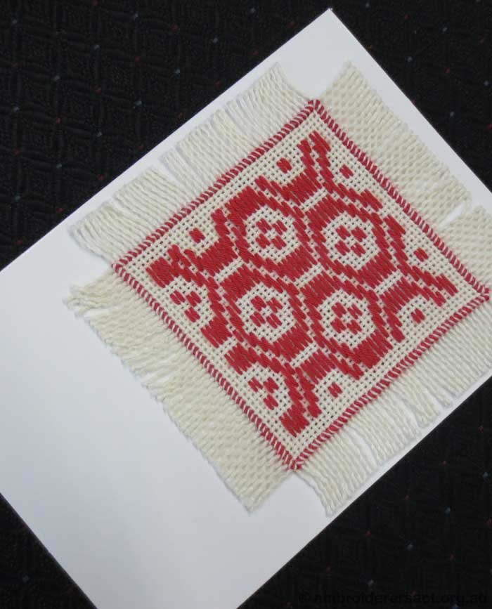 Darning on a card