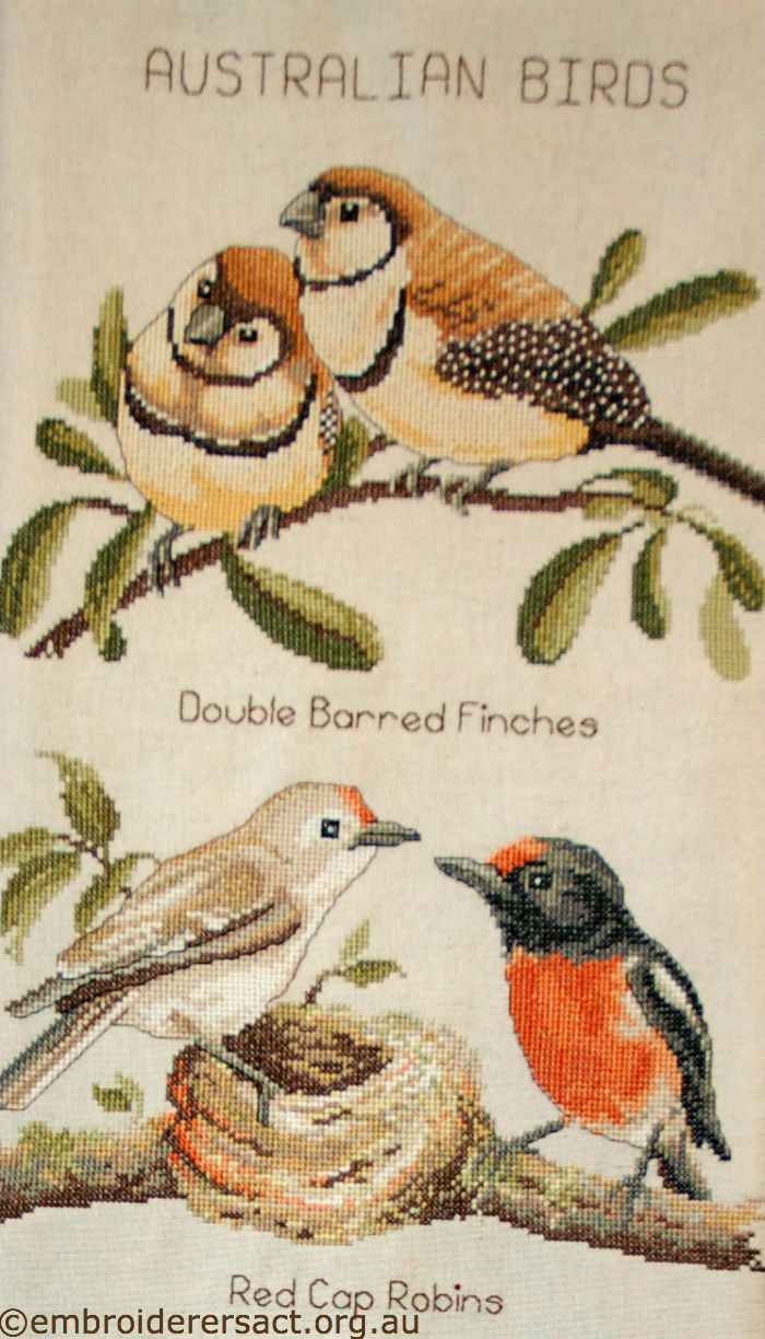 Detail Australian Birds X-stitch