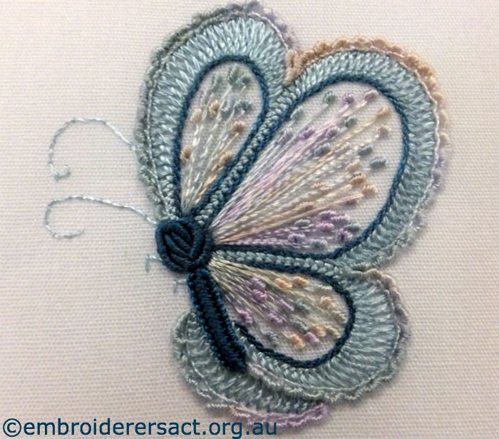Brazilian embroidery butterfly