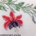 Fuchsia Brazilian Embroidery