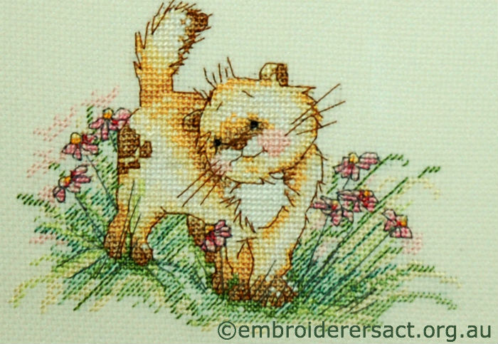 Detail Happy Cat X-stitch F.Basilisco