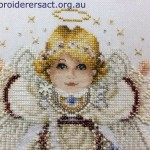 Detail of Angel X stitch
