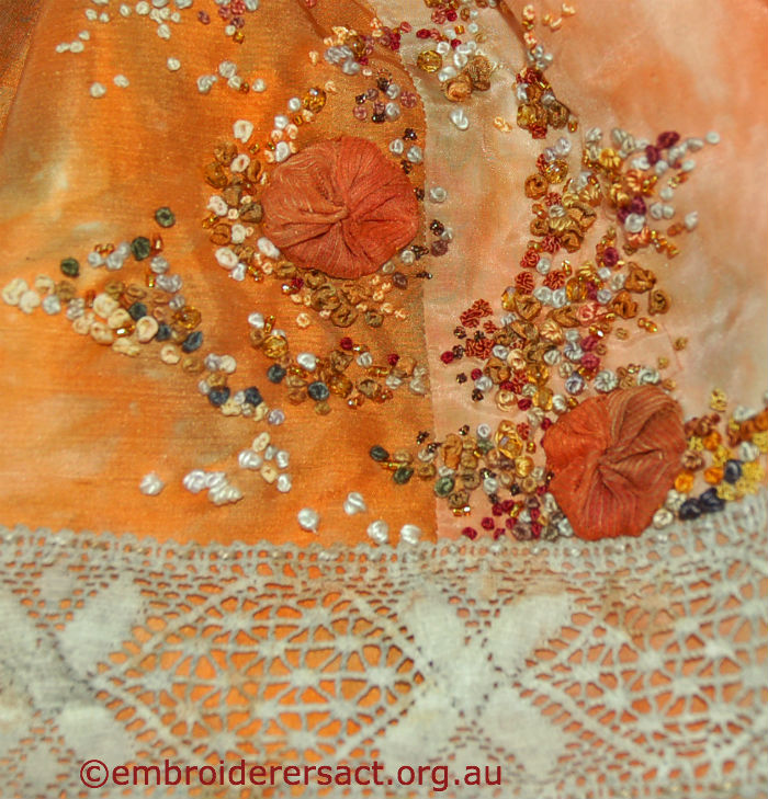 detail of Suzanne Clarke evening bag