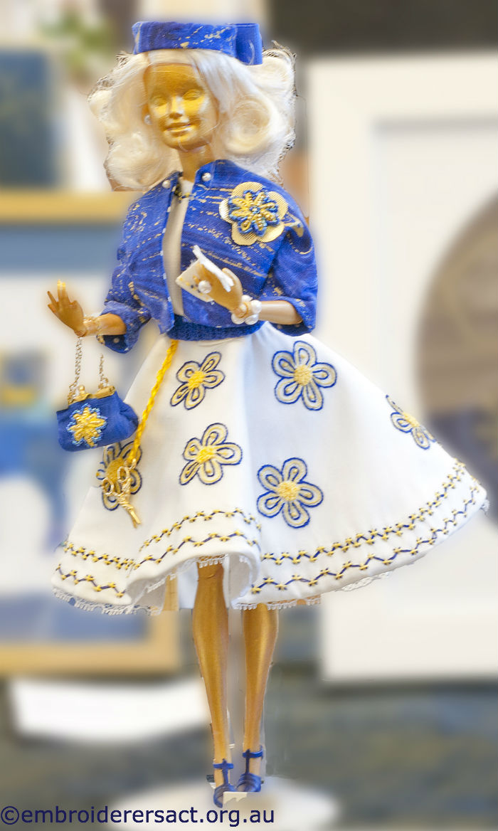 Doll dressed by Evelyn Foster