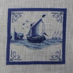 Dutch Delft Tile Ship
