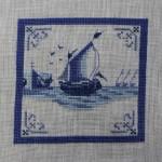 Dutch Delft Tile Ship