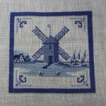 Dutch Delft Tile Windmill