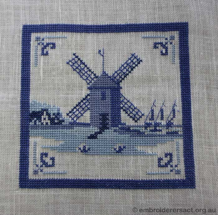 Dutch Delft Tile Windmill