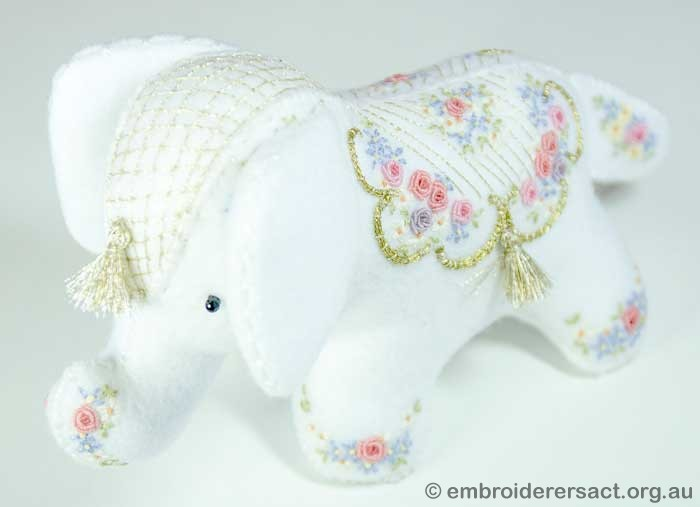 Elephant softie stitched