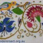 Elizabethan Bird & Borage Cross Stitch