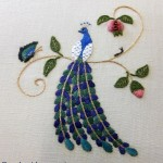 Elizabethan Peacock embroidery