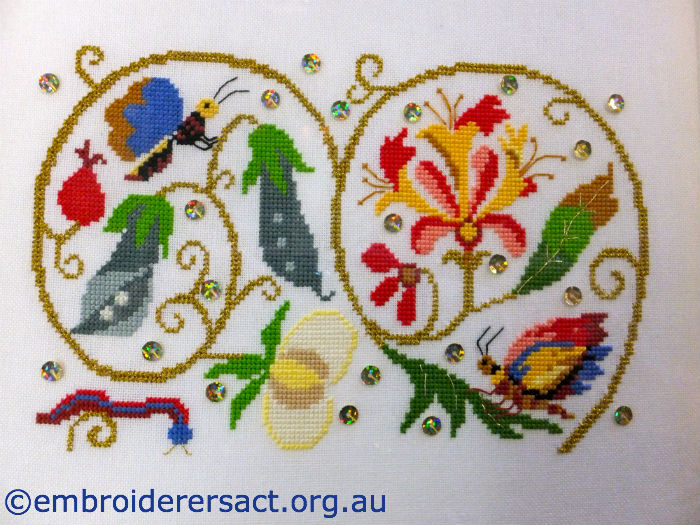 Elizabethan Flower Cross Stitch