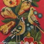 X-stitch of Goldfinches