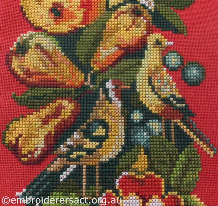 X-stitch of Goldfinches