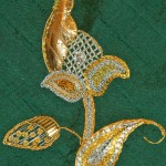 Goldwork on bag by Christine Bailey