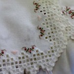 Baby and Bride Christening Gown detail