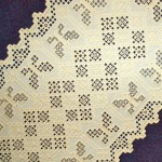 Hardanger Table runner with butterfly motif