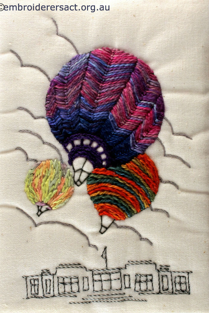 Hot Air postcard by Jillian Bath