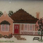Cross Stitch of House