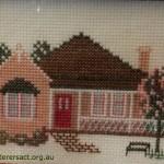 Cross Stitch of House