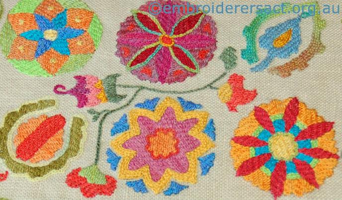 Suzani stitched by Jan Hure