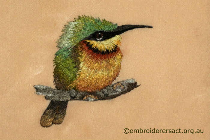 Thread painting of little bee eater