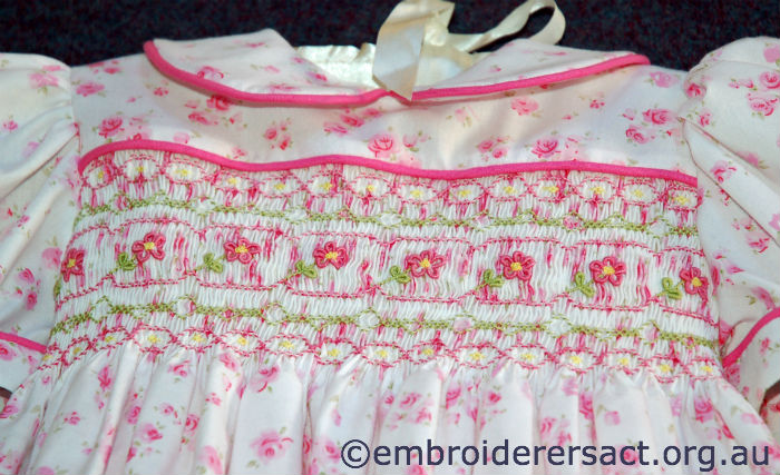 Smocked dress by Lorna Loveland