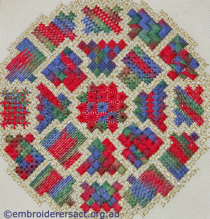 Canvas sampler by Margaret O'Beirne