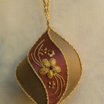 Maroon and Gold Xmas Ornament