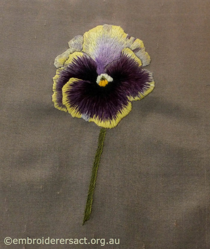 Pansy Thread Painting