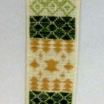 Pattern Darning Bookmark