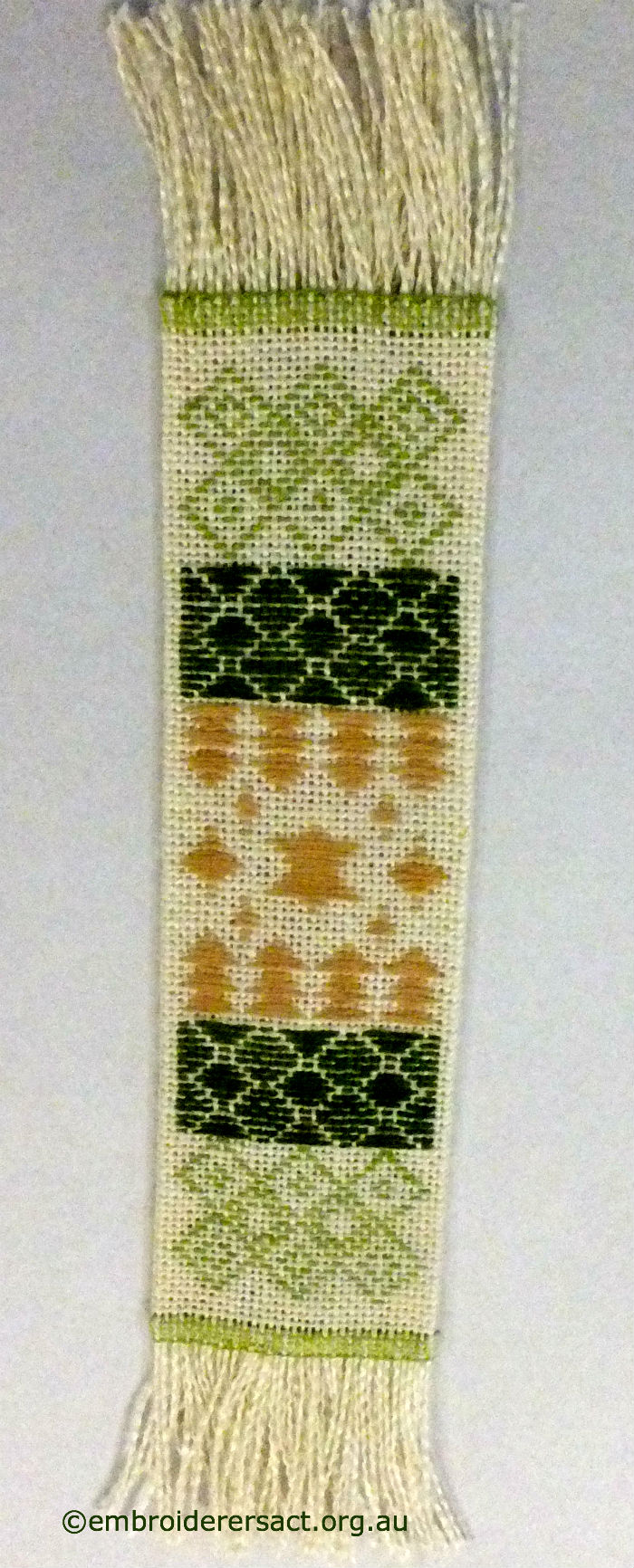 Pattern Darning Bookmark