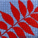 Pistachio Leaf postcard by Prue Deacon
