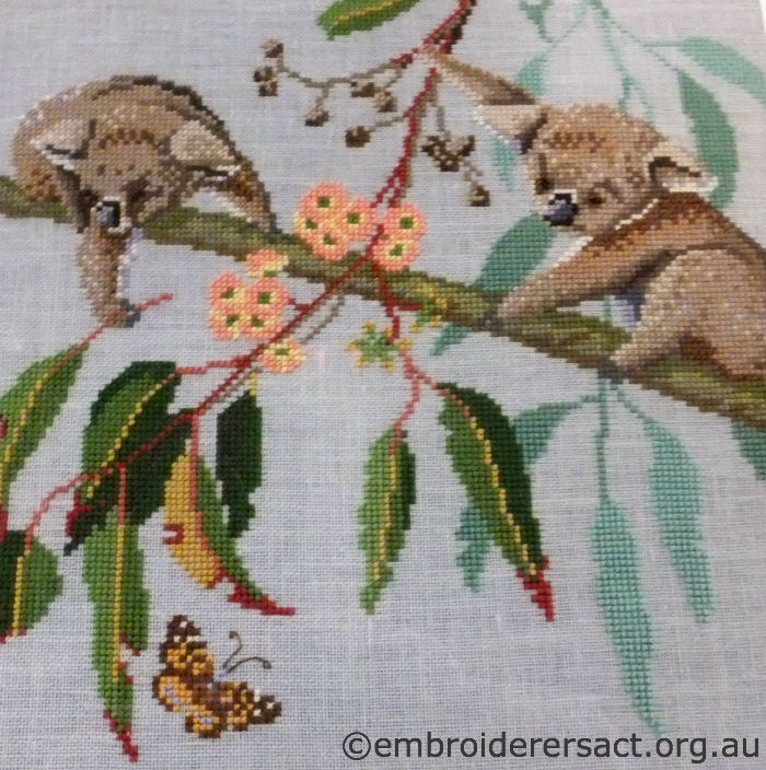 Playful Koala Cross Stitch